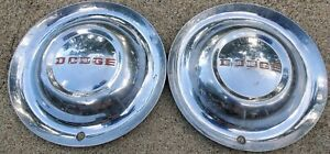 "☆1952 52 Dodge Truck Hubcaps Wheel Covers 15"" OEM (PAIR OF 2)"