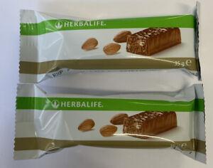 2x Herbalife protein bar Almonds 35g