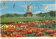 """*Postcard-""""Flags of the Provinces"""" *Windmill Island/Holland, Michigan"""" (#136)"""