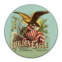 Vintage Design Sign Metal Decor Gas and Oil Sign - Golden Eagle TC Williams Co.