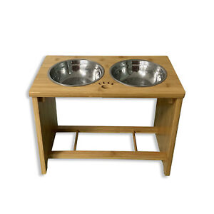 Raised Pet Bowls Stand with Food & Water Bowls for Dogs