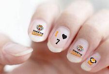 NRL Wests Tigers Finger & Toe Nail Vinyl Art Decal Sticker Set