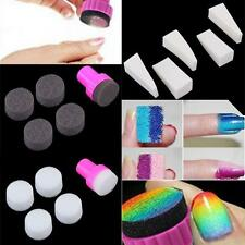 Nail Art Sponge Stamp StampingTips Polish Template Transfer DIY Manicure Set New
