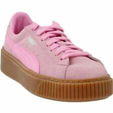 Puma Suede Platform Junior Sneakers Casual    - Pink - Girls