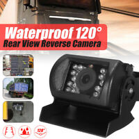 12/24V Car CCD Reversing Rear View Camera 18 IR LED Night Vision Waterproof