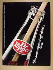 1974 Dr Pepper bottle straw photo vintage print Ad
