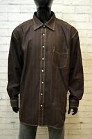TOMMY HILFIGER Camicia Uomo Taglia 5XL Maglia Camicetta Shirt Big Size Man Hemd