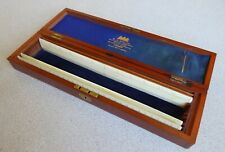 Early 1900's Wood-Cased Set of (3) Ivory Scale Rules. W.H. Harling, England.