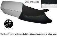 BLACK AND WHITE VINYL CUSTOM FITS HONDA CBR 600 F 87-90 DUAL SEAT COVER ONLY