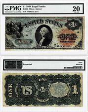 1869 $1 LEGAL TENDER-FR#18 TREASURY NOTE~~ PMG  VERY FINE 20