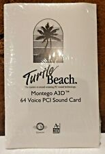 Turtle Beach Montego A3D 64 Voice PCI Sound Card SOFTWARE ONLY