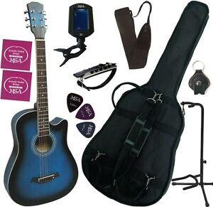 PACK Guitare Folk Jusqu'à 9 Accessoires 4 Coloris Disponibles