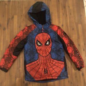 Disney Store NWT Marvel Boys Spider-Man Spiderman Jacket Coat Pockets Hood 5/6