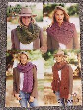 Stylecraft Super Chunky Knitting Pattern 9127 Ladies Scarf & Cowls (2186)