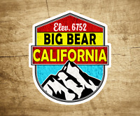 "BIG BEAR California Decal Sticker Skiing Ski Mountain 3"" x 2.75"" Hiking"