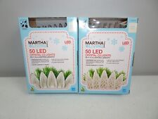 Lot Of 2 Martha Stewart Living 50 Led Globe Lights Warm White New Led Lights