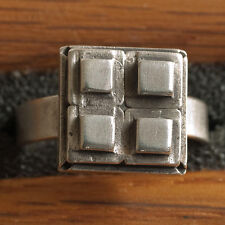 New Oop Sterling Silver Ring by Allison Stern ~ Vintage 1996 ~ Unisex ~ Size 9½