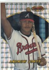 ANDRUW JONES BOWMAN'S BEST ATOMIC REFRACTOR SILVER RC BRAVES YANKEES #91 1996 96