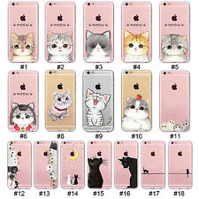 Hollow Cute Cat Soft TPU Silicone Phone Case Cover For 4S 5 SE 5C 6 6S Plus 7 7P