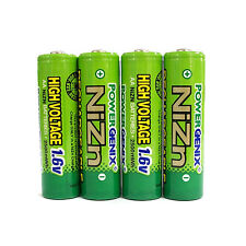 4 pcs 2500mWh 1.6V Volt AA 2A NiZn Rechargeable Battery Cell PowerGenix US Stock