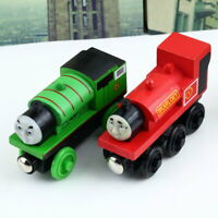 The Train  Engine Wooden Child Toy 3 pairs of wheels a