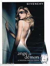 PUBLICITE ADVERTISING 095  2007   GIVENCHY le nouveau parfum femme ANGE ou DEMON