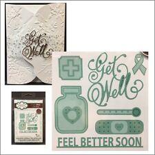 Feel Better Soon metal die set Creative Expressions cutting Dies Get Well words