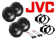 """NEW S/4 JVC 6.5"""" CAR TRUCK FRONT & REAR DOOR SPEAKERS W/ MOUNTS & WIRE HARNESS"""