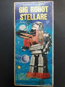 Tin Toy robot stellare  GIG battery operated    no SUPER  ASTRONAUT box