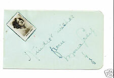 Mona Grey Theatre Actress Singer 1930's Hand signed  page 4 x 2