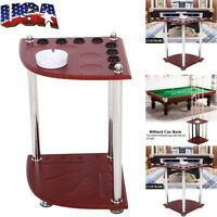 Wood Pool Cue Rack Stick Holder Wall Mount Holder Billiard Table Accessories US