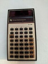 Vintage 70's Texas Instruments TI-30 Calculator Tested WORKING 1970s Red LED