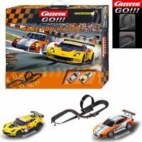 NEW Carrera GO!!! 1/43 Race :Victory Slot Car Porsche/Chevy Track Set SHIPS FREE