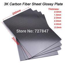 0.5-3.0mm 200*300 100% углеродного волокна пластина панель лист 3K полотняное переплетение глянцевый