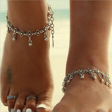 Fußkette Fusskette viele Farben bronze Tropfen Träne Fußschmuck Metall Perlen