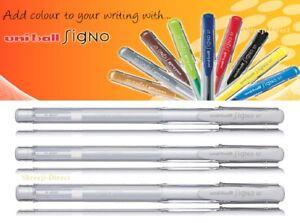 3 x White UNI-BALL SIGNO UM-100 EYE GEL PEN 0.7mm UM-100 Creamy White Pen