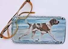 BRACCO ITALIANO DOG NEOPRENE GLASS CASE POUCH  SANDRA COEN ARTIST OIL PRINT