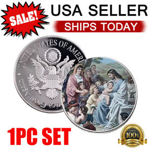 Jesus Christian worship pray bless coin Commemorative Collection Coins