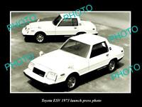OLD LARGE HISTORIC PHOTO OF 1973 TOYOTA ESV CAR LAUNCH PRESS PHOTO 2