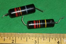 (2) Vintage Sprague Bumble Bee .022 uf 400v guitar tone capacitors