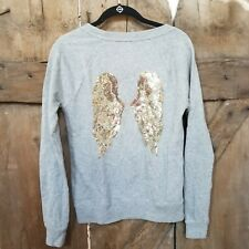 Victoria's secret Angel Wings Sequins French Terry sweatshirt XS gray gold