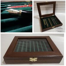 Cofanetto per Penne espositore legno e velluto Handmade by Coins&More pencil box