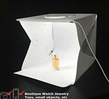 LIGHTBOX 2 STRISCE LED PIEGHEVOLE PORTATILE 40X40 -30X30 FOTO STUDIO PHOTO BORSA