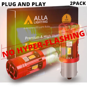 LED Rear Yellow Plug&Play 7528 CANBUS Turn Signal Lamp,🚫Resistor/Flasher Relay