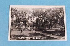Vintage Rppc Real Photo Postcard City Park In Miles City, Montana