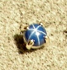 Created 925 Ss Single Earring 2N Linde Lindy Round Cornflower Blue Star Sapphire
