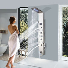 Torre LED Panel de Ducha Lluvia Chorros de sistema de masaje de cuerpo pulverizador Cascada Mezclador
