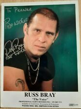 """Russ Bray """"The Voice"""" Darts Referee M.C. Autographed Photo, Hand Signed"""