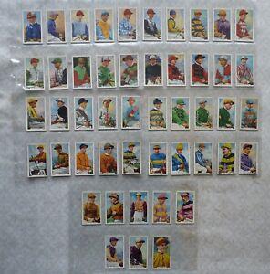 Full Set Gallahers Famous Jockeys Cigarette Cards 1936