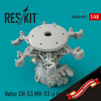 ResKit RSU48-0011 Rotor CH-53, MH-53, HH-53 (6 blades - 2 engines) Upgrade 1/48